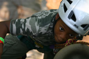 Child with Sickle Cell Climbing - Recreational Considerations for Children with Sickle Cell