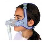photo of child wearing an illustrated CPAP Mask